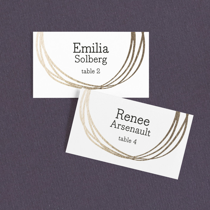 """""""The Big Day"""" - Bohemian, Modern Wedding Place Cards in Golden by R studio."""