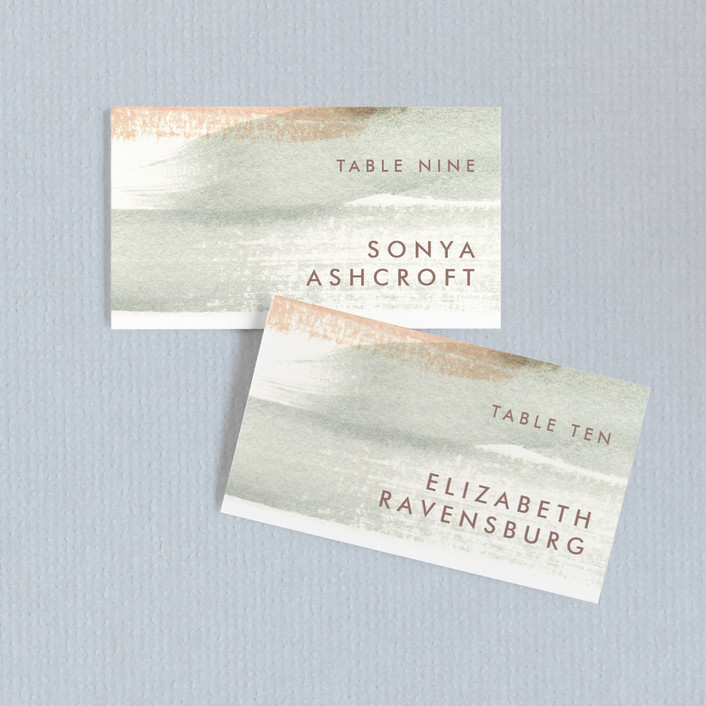 """Canyon"" - Bohemian, Modern Wedding Place Cards in Sienna by Kelly Nasuta."