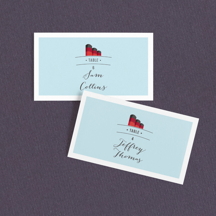 """Queen Mary"" - Wedding Place Cards in Sky by Jazmin B. Marquez."