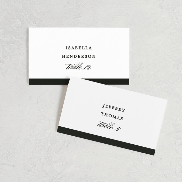"""Classic"" - Wedding Place Cards in Tuxedo by Lauren Chism."