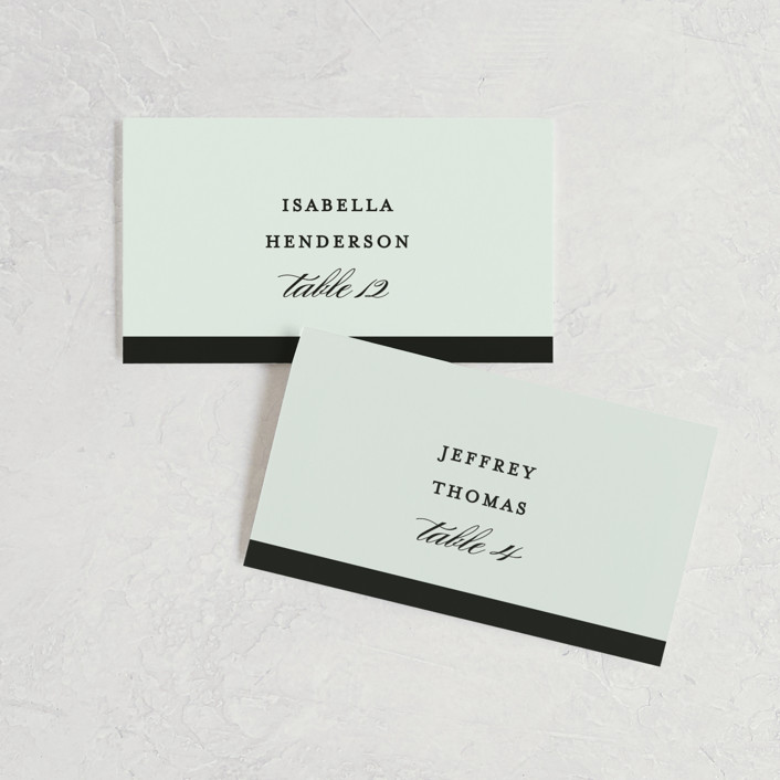 """""""Classic"""" - Wedding Place Cards in Tuxedo by Lauren Chism."""