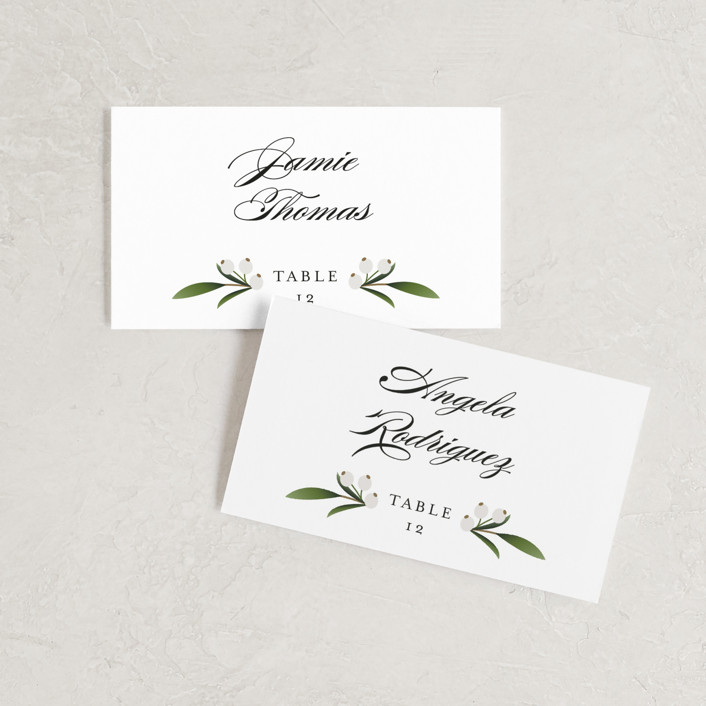 """""""Adorned Ampersand"""" - Wedding Place Cards in Cotton by Jennifer Postorino."""
