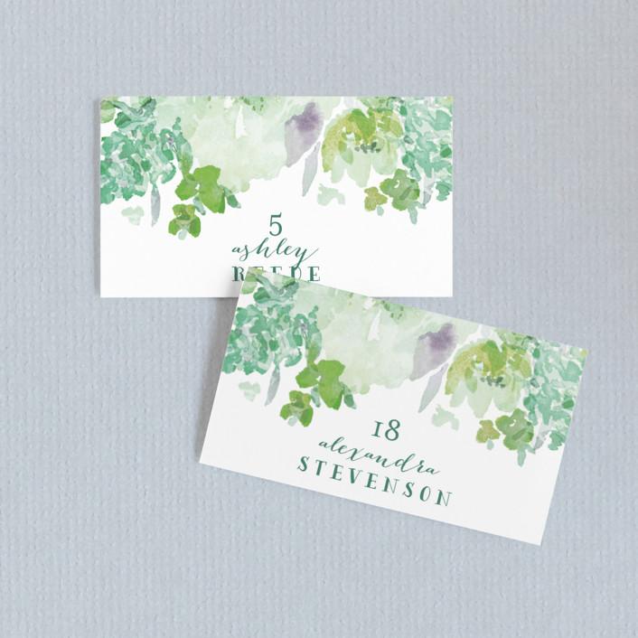 """Spring Garden"" - Wedding Place Cards in Petal by Grace Kreinbrink."