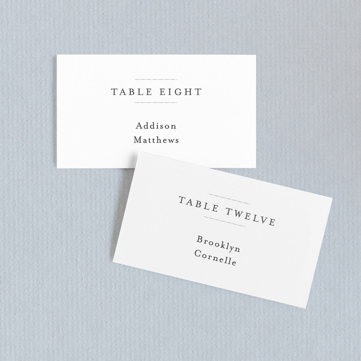"""instilled"" - Wedding Place Cards in Pearl by Design Lotus."