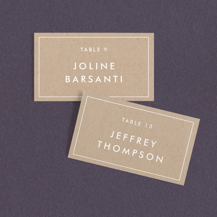 """Modern Stamp"" - Modern Wedding Place Cards in Kraft by seulghi."