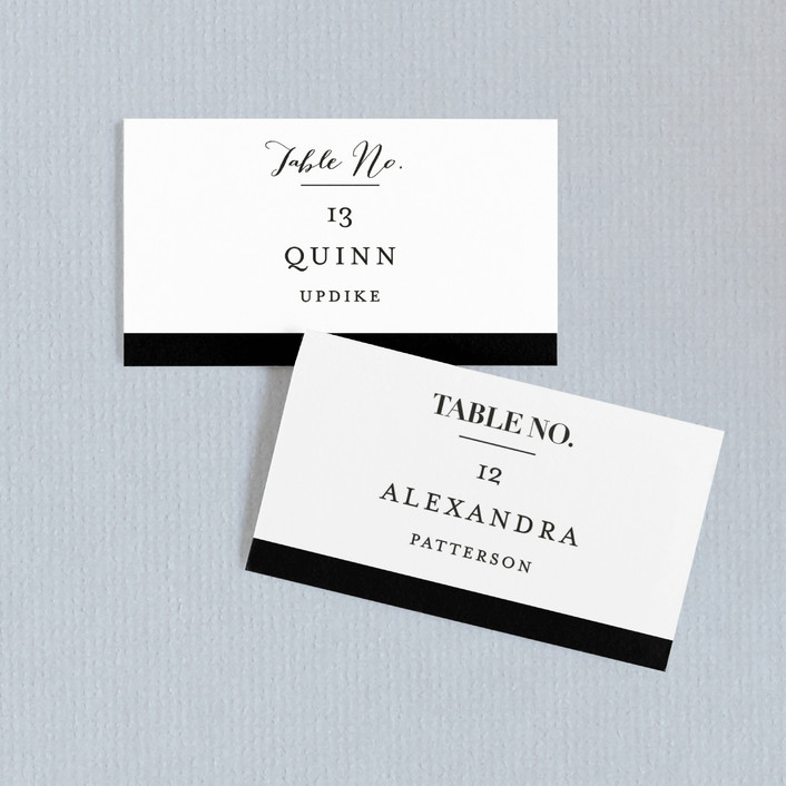 """""""The Minimalist"""" - Wedding Place Cards in Pearl by Kelly Schmidt."""