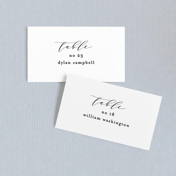 """Simple Elegance"" - Wedding Place Cards in Tuxedo by Phrosne Ras."