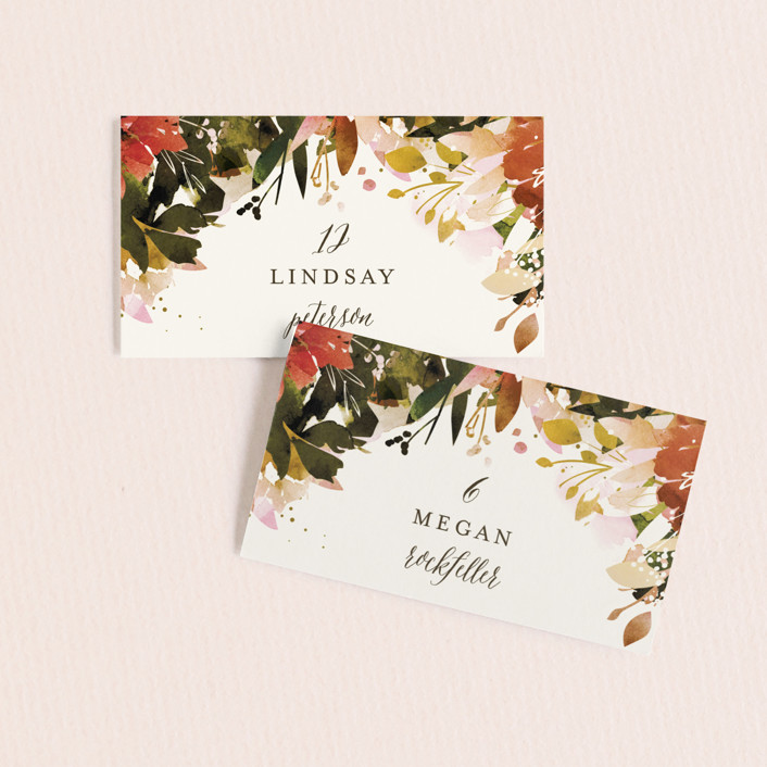 """""""Eden"""" - Wedding Place Cards in Poinsettia by Lori Wemple."""