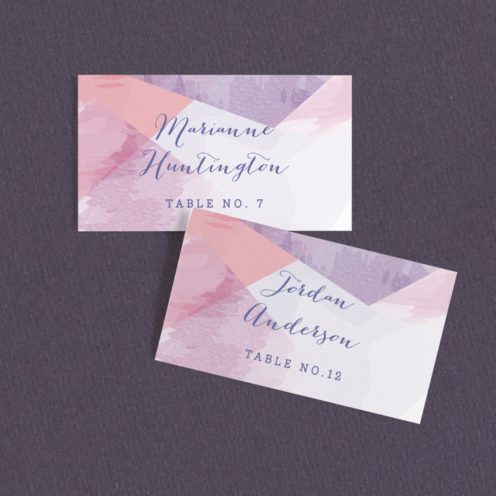 """wash of color"" - Wedding Place Cards in Lilac by Karidy Walker."