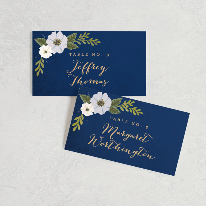 """""""Floral Ring"""" - Wedding Place Cards in Atlantic by Karidy Walker."""