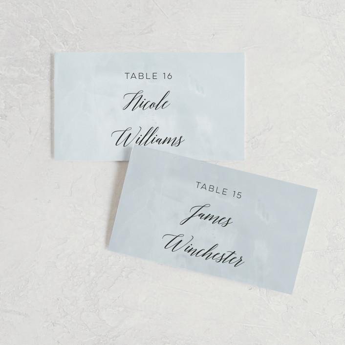 """Grande Botanique"" - Wedding Place Cards in Mist by Bonjour Paper."