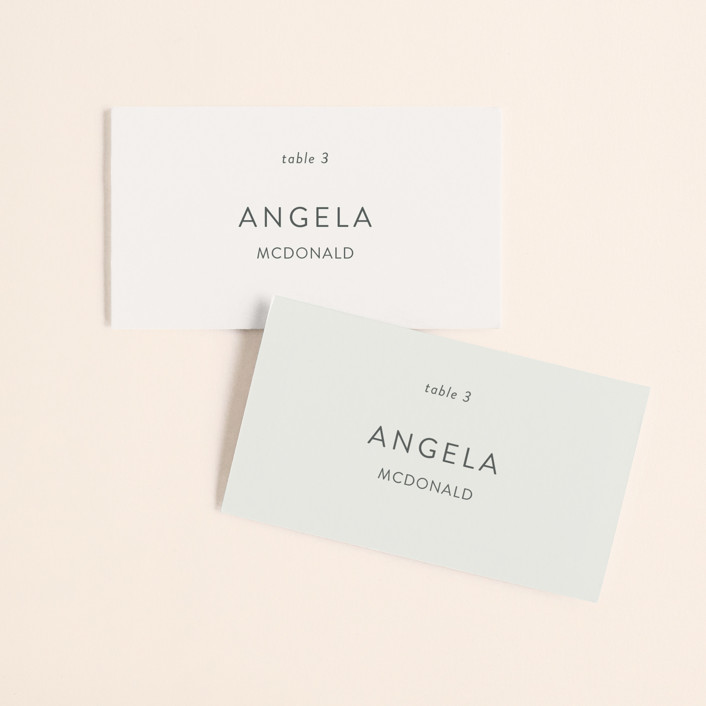 """Pattern Play"" - Wedding Place Cards in Pebble by Anelle Mostert."