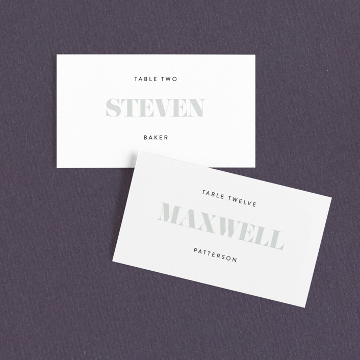"""His and Hers"" - Wedding Place Cards in Dusk by Erin Deegan."