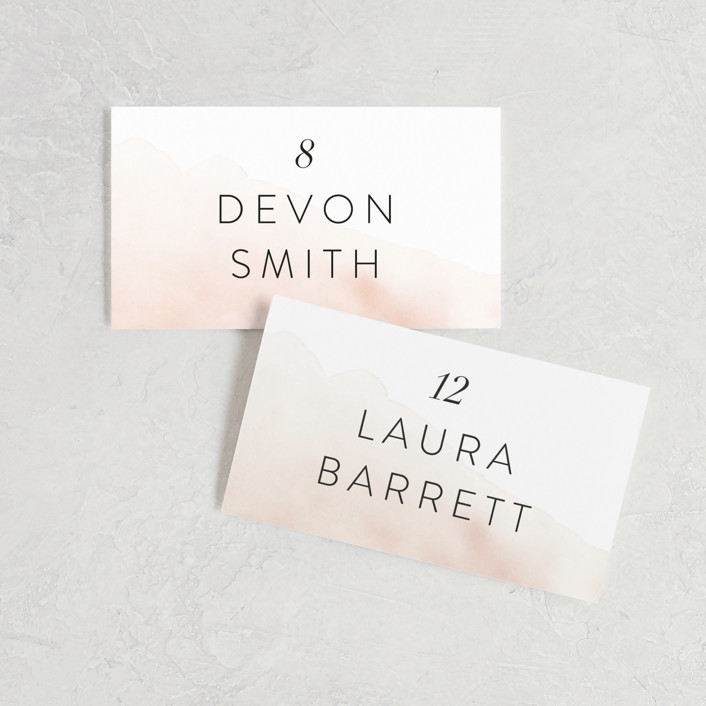 """""""Ethereal Bouquet"""" - Wedding Place Cards in Blush by Petra Kern."""