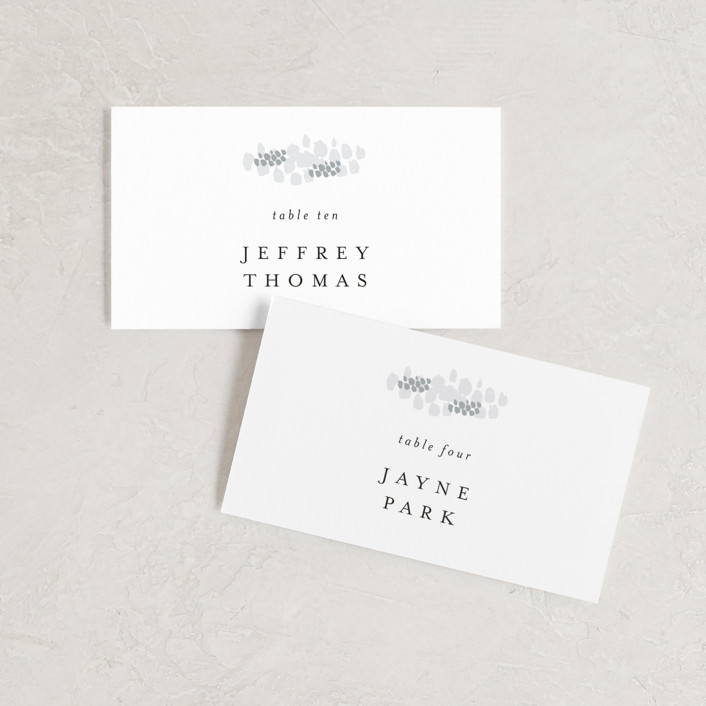 """A Thousand Years"" - Wedding Place Cards in Classic White by Design Lotus."
