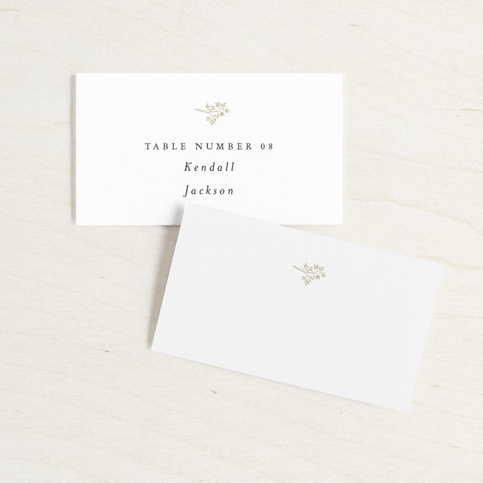 Wedding Place Cards.Sense And Sensibility Customizable Wedding Place Cards In White By Design Lotus