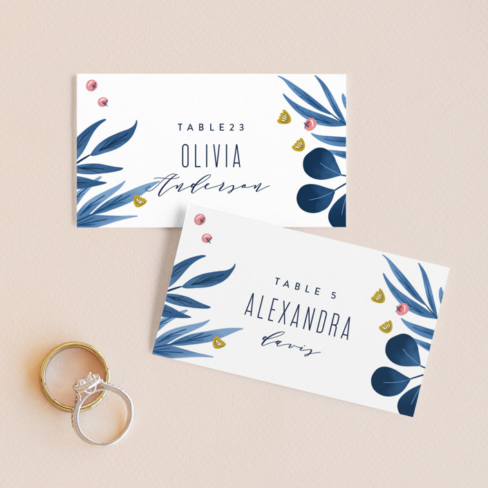 """""""Paradise"""" - Wedding Place Cards in Seaside by Joanna Griffin."""