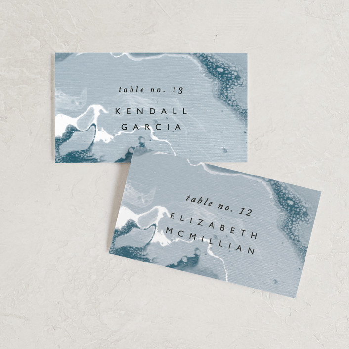 """""""swirl"""" - Modern Wedding Place Cards in Celestial by Alethea and Ruth."""