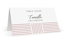 This is a pink wedding place card by Kampai Designs called Tara with standard printing on signature in placecard.