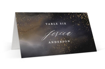 This is a grey wedding place card by iamtanya called Enchantment with standard printing on signature in placecard.