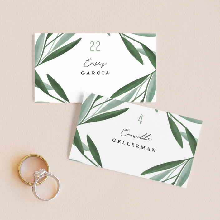 """""""Oliviers"""" - Wedding Place Cards in Spring by Gwen Bedat."""