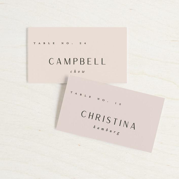"""""""Adora"""" - Wedding Place Cards in Dawn by Leah Bisch."""