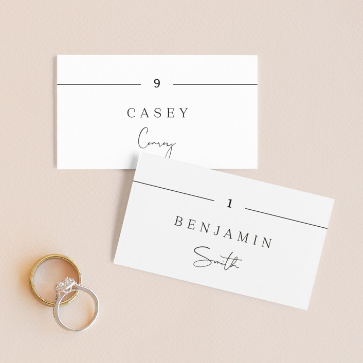"""""""In Love"""" - Wedding Place Cards in Ink by Carolyn MacLaren."""
