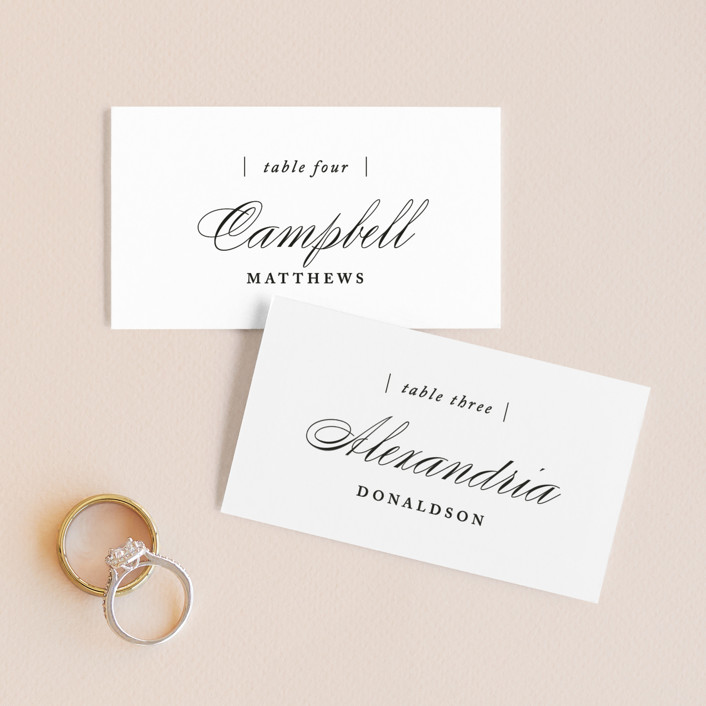 """Typography"" - Wedding Place Cards in Pearl by lena barakat."