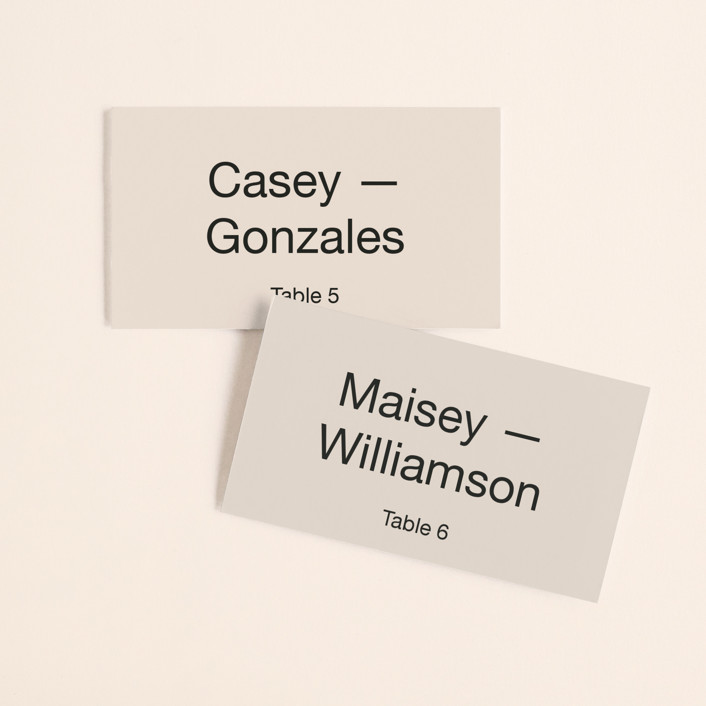 """Proposal"" - Wedding Place Cards in Buff by Jack Knoebber."
