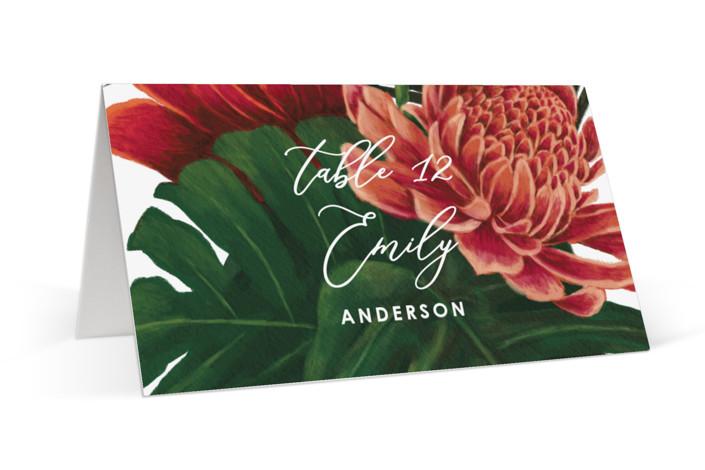 Tropical Bouquet Place Cards