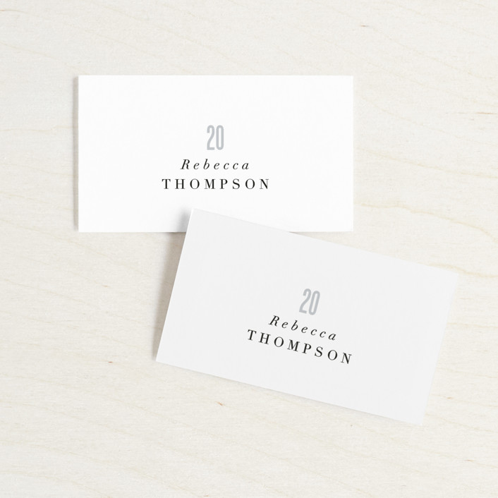 """""""Monumental"""" - Wedding Place Cards in Cotton by Jessie Steury."""