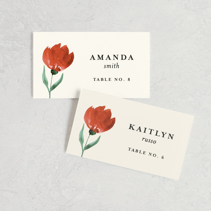 """Flourishing"" - Wedding Place Cards in Bloom by Beth Schneider."