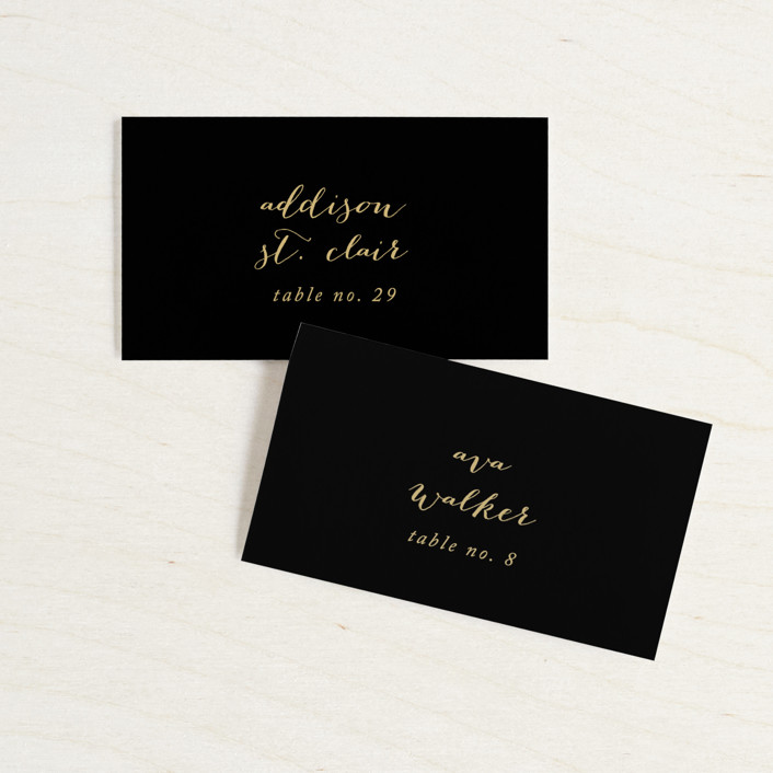"""Desire"" - Wedding Place Cards in Tuxedo by Jennifer Postorino."