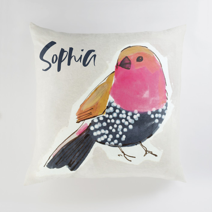 """Stay 1"" - Large Personalizable Pillow in Pashmina by Victoria Johnson."