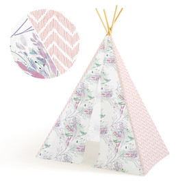 This is a pink play tent by Multiple Artists called Printemps.