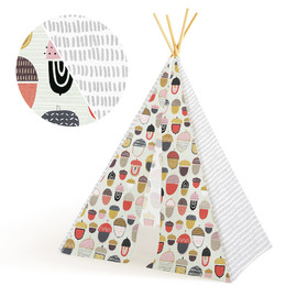 This is a grey play tent by Multiple Artists called Hunt and Gather.