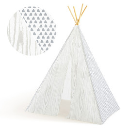 This is a white play tent by Multiple Artists called Snowy Forest.