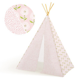 This is a pink play tent by Multiple Artists called Pretty Peonies.
