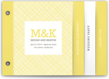 Crosshatch Wedding Program Minibook™ Cards