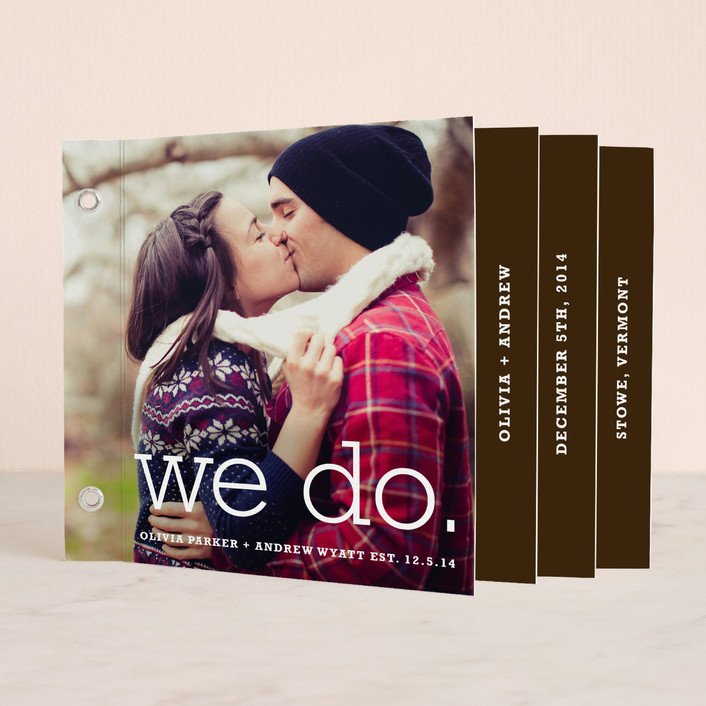 """We Do"" - Simple, Modern Unique Wedding Programs in Chocolate by annie clark."