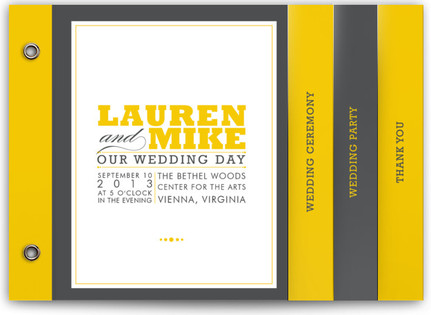 Cocktail Hour Wedding Program Minibooks