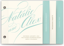 Winter Flourish Wedding Program Minibook™ Cards