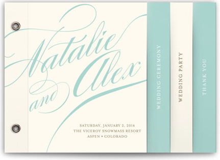 Winter Flourish Wedding Program Minibooks