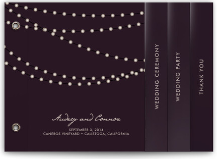 Midnight Vineyard Wedding Program Minibooks