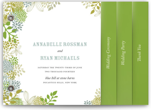 wedding programs minibook cards minted