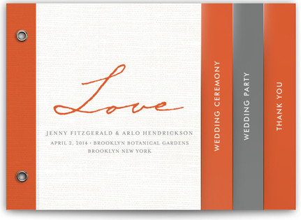 Simply in Love Wedding Program Minibooks