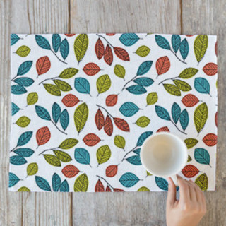 Illustrated Leaves Placemats