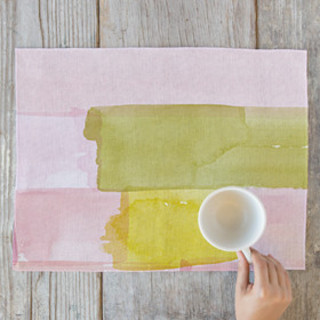 Abstract Watercolor Placemats