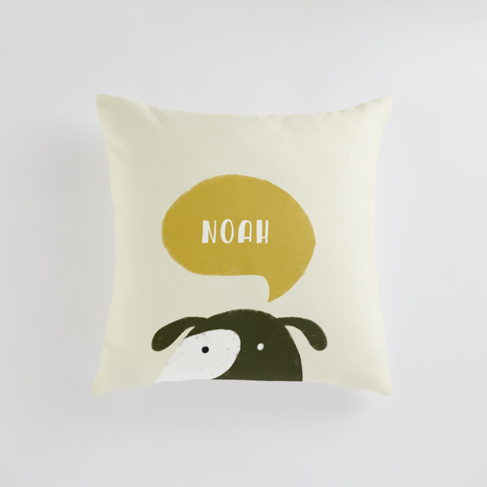 Woof Personalizable Pillows