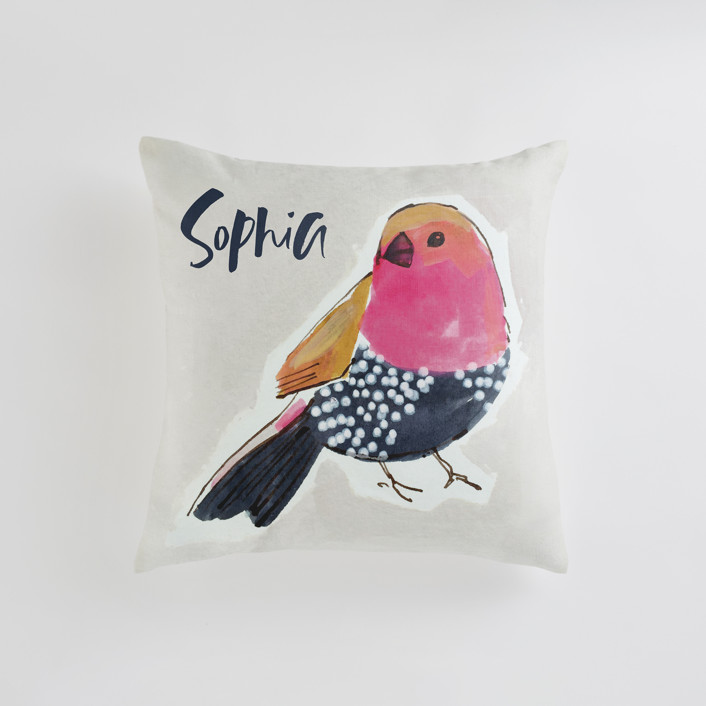 """""""Stay 1"""" - Personalizable Pillow in Pashmina by Victoria Johnson."""